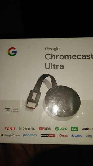 Google Chromecast ultra for Sale in Baltimore, MD