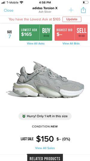 Adidas Torsion X Ash Silver Size 7 (New, in box) for Sale in Elk Grove, CA