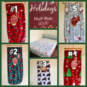 """60""""x 70"""" CHRISTMAS PLUSH THROW 5 DESIGNS for Sale in Los Angeles, CA"""