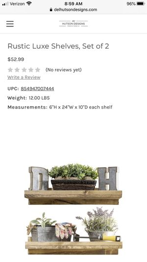 Brand New! Rustic Floating Shelves - set of 2 for Sale in Austin, TX