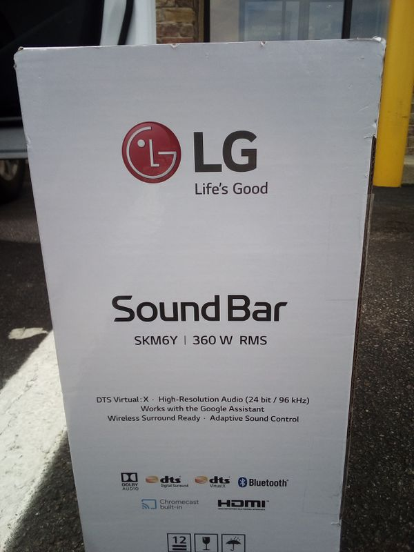 LG SKM6Y 360 W RMS sound bar and subwoofer