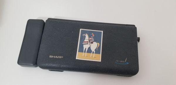 Sharp Zaurus zr-5800 with modem and memory card