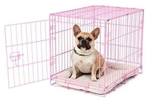 Pink Secure and Compact Double Door Metal Dog Crate, Small for Sale in Chicago, IL