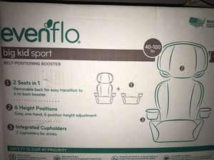 Evenflo big kid sport car seat for Sale in Chicago, IL