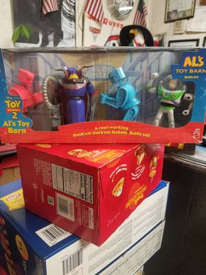TOY STORY 2 AL'S TOY BARN BATTLE SET ACTION FIGURE SET MIB 1999 DISNEY PIXAR for Sale in Houston, TX