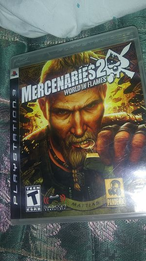 MERCENARIES 2: WORLD IN FLAMES (PS3) for Sale in Oklahoma City, OK