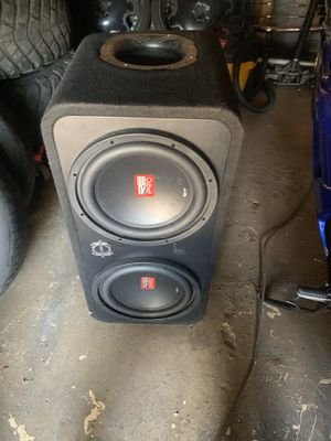 2 12 inch RE Audio Pro subwoofers and 1600.1 matching mono amp for Sale in Minneapolis, MN
