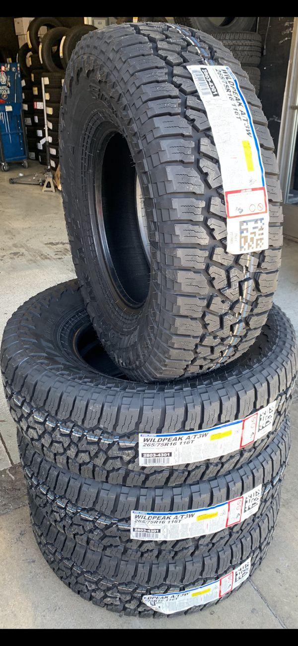 265/75/16 New set of Falken AT tires installed