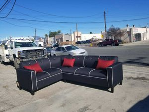 NEW 7X9FT DOMINO BLACK FABRIC COMBO SECTIONAL COUCHES for Sale in Imperial Beach, CA