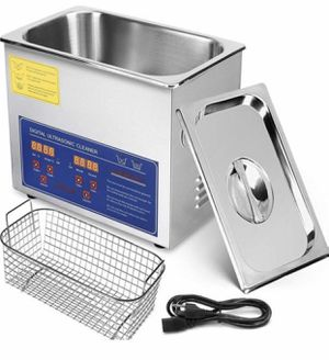 3L Ultrasonic Cleaner Ultrasonic Parts Cleaner Stainless Steel Professional Ultrasonic Jewelry Cleaner with Heater Timer(3L) for Sale in Colton, CA