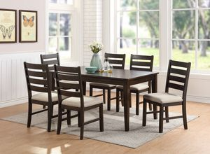 Antique Gray Wood Finish 7 Piece Dining Table Set for Sale in Moreno Valley, CA
