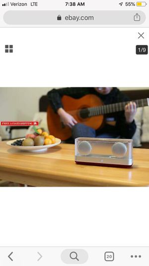 Windbox R Transparent Bluetooth 4.2 Speaker for Sale in Arlington, VA