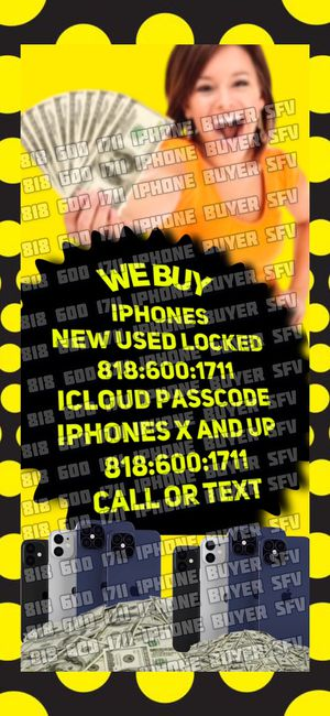 iPhone xs max iCloud xr x xs 11 pro max NEW USED phone NEW SEALED iPad 10.2 WiFi Apple Watch series 5 gps 💻 for Sale in Burbank, CA