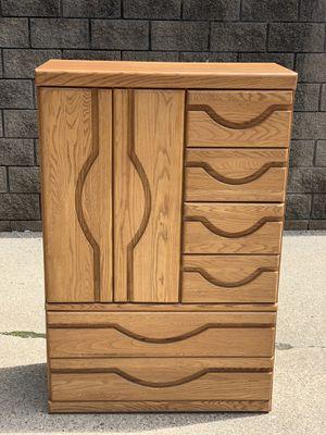 golden oak armoire for Sale in Clinton Township, MI