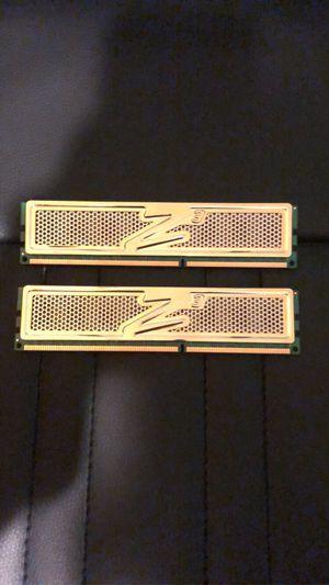 OCZ-Z3 series 2 sticks RAM 2GB each for Sale in New Baltimore, MI