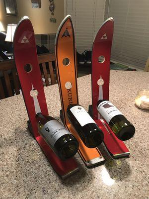 3 Hole Vintage Ski Wine Rack for Sale in Gaithersburg, MD