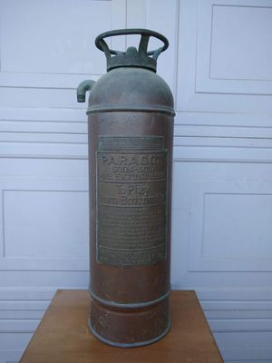 Vintage Antique Collectible Metal Brass Bronze Copper Fire Extinguisher Firefighter for Sale in Modesto, CA