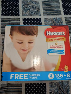 Huggies little snuggles size 3 144 count for Sale in Williamston, SC