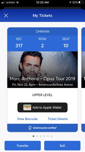 Marc Anthony concert for Sale in Hialeah, FL