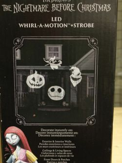 The Nightmare Before Christmas--Led Whirl-A-Motion + Strobe.New In Box, Never Opened for Sale in Canyon Lake,  CA