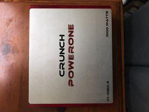 Crunch powerone 1000watt 4 channel amp for Sale in Paramount, CA