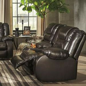 $39 DOWN PAYMENT Vacherie Chocolate Reclining Living Room Set for Sale in Silver Spring, MD