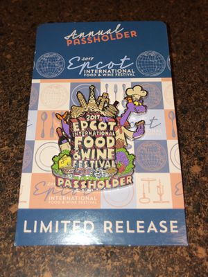 Disney Food and Wine Festival passholder pin 2017 for Sale in Middletown, CT