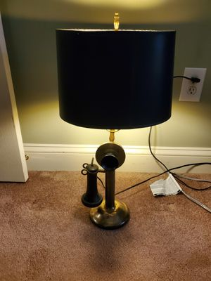vintage telephone lamp-21h for Sale in Souderton, PA