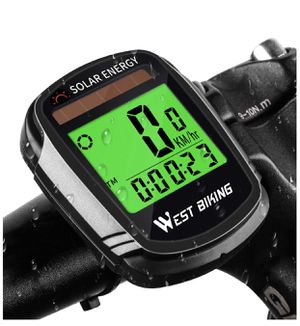 Bike Computer Solar Energy, Wireless Waterproof Bicycle Speedometer Odometer for Sale in Aurora, IL