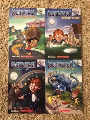 Looniverse 4 Book Series Set / Paperback / Like New for Sale in Ashburn, VA