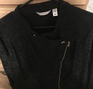 Isaac Mizrahi Lace black moto Jacket size 2x for Sale in Augusta, GA
