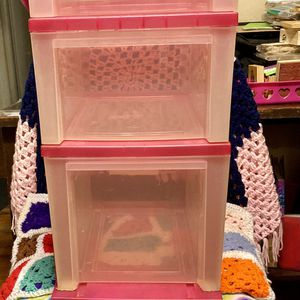 3-door Rolling Hot Pink Craft Storage for Sale in Whittier, CA