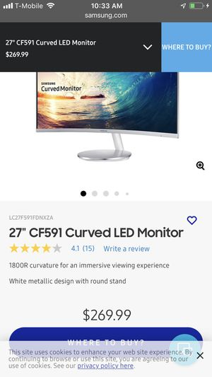 """27"""" CF591 Curved LED Monitor for Sale in Chicago, IL"""