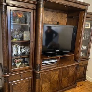 3 Set TV Console Genuine Wood for Sale in The Bronx, NY