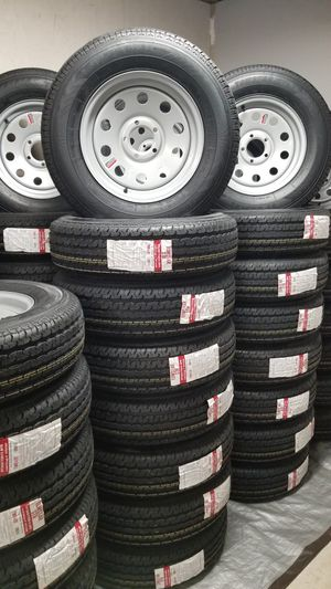 NEW TRAILER TIRES/WHEELS STARTING AT $70+TAX AND UP TIRE/RIM ASSEMBLY for Sale in Douglasville, GA