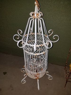 Vintage fancy wrought iron bird cage for Sale in Glendale, AZ