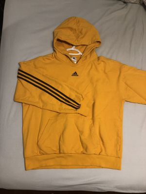 Adidas x Kith Hoodie yellow limited edition Large like new 100% cotton men L unisex for Sale in Sunrise, FL