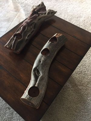 Candle holders - solid manzanita for Sale in Yorba Linda, CA