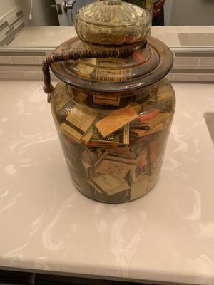 Match collection rare antique glass jar vintage around the world for Sale in Queen Creek, AZ