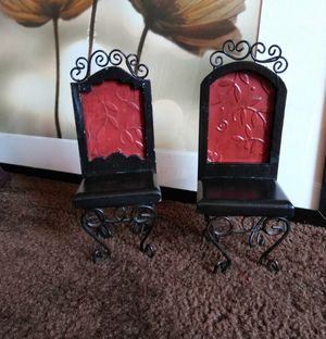 3 Small Red Chairs Home Decor for Sale in Anaheim, CA