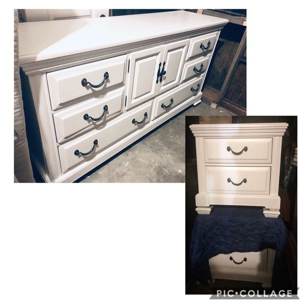 Solid wood dresser + 2 night stands (see all photos)