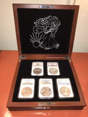 American Eagle silver dollars set for Sale in Chino, CA