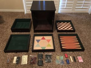 DELUXE WOODEN BOARD GAME CHEST for Sale in Henderson, NV