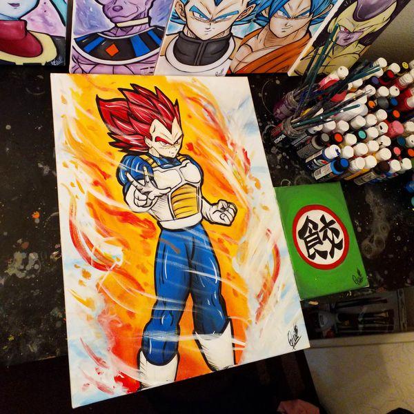Super Saiyan God Vegeta! By Quil - Dragonball Z