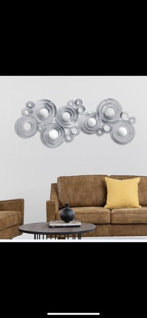 Oversized Mirrored Steel Metal Wall Art Decor for Sale in Palm Harbor, FL