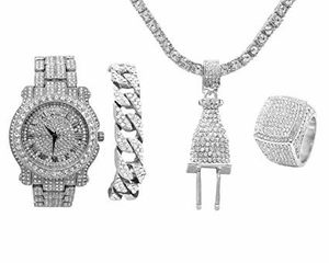 Silver luxury Watch Set with Necklace and Bracelet for Sale in New York, NY