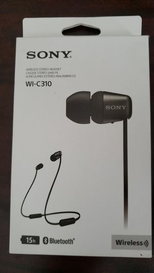 Sony WI-C310 Wireless Bluetooth In-ear Stereo Headphones Headset- Black for Sale in Houston, TX