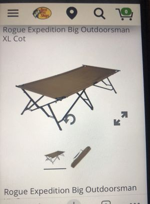 Rogue Expedition Camp Cot for Sale in Rancho Cucamonga, CA
