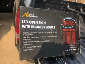Open sign with business hours for Sale in Caruthers, CA