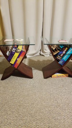 Glass top end tables for Sale in Suwanee, GA